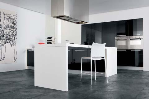 Cuisine noir et blanche g om trique nc creations photo n 68 - Cuisine blanche et noir ...