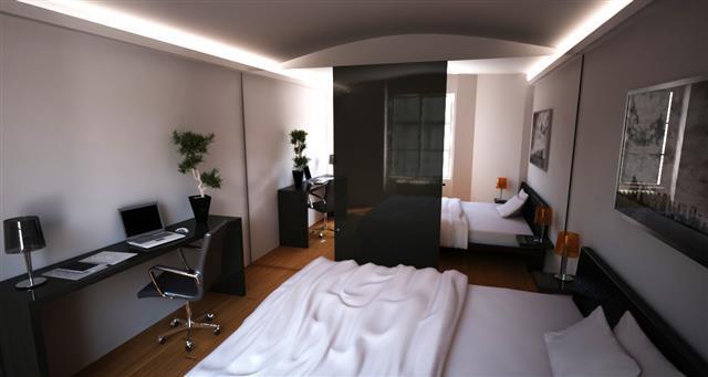 93813 chambre design et contemporaine chambre adultes avec bureaujpg - Bureau Chambre Adulte