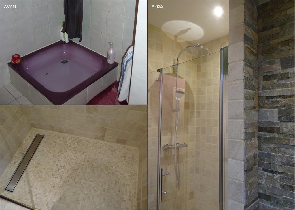 une salle de bain tr s nature domozoomcom - Salle De Bain Pierre De Travertin