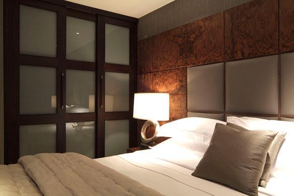 Tête de lit en cuir gris chaud Mendi Cuir photo n°00
