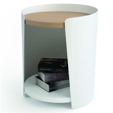 Chevet Rio blanc / chêne clair