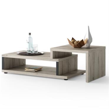 Table basse extensible DURBAN à double plateau
