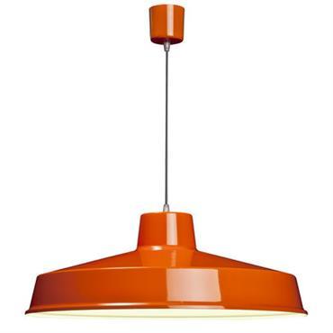 Suspension Fabrique - Ø 60 cm - Roger Pradier Orange en Métal