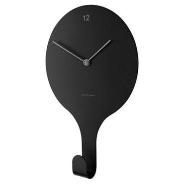 Horloge murale Diamantini & Domeniconi Design Noir Métal Larg 22 cm x H 34 cm Fonctionnelle et ludique, cette horloge fait également office de patère ! Pratique pour accrocher vos ...