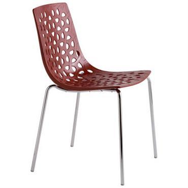 Chaise empilable Tess / Plastique - Softline Rouge en Matière plastique
