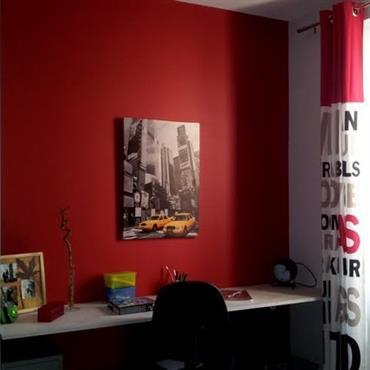 Chambre d'ado rouge et noir