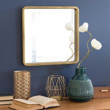 Miroir carré doré H 40 cm MESSINA
