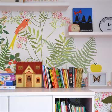 chambre enfant avec dcor mural gai et moderneludique pour lenfant - Amenagement Chambre Garcon