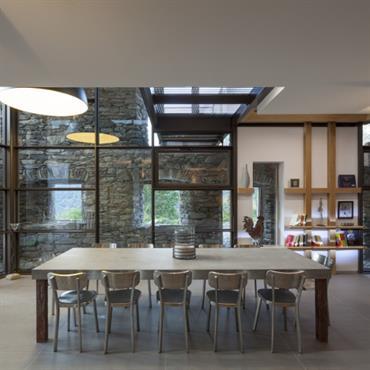 compltement sur mesure cette table reprend latmosphre pure de ce projet magnifique - Grande Table De Salle A Manger