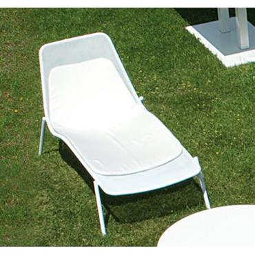 Coussin pour chaise longue Round - Emu Gris en Tissu L 135