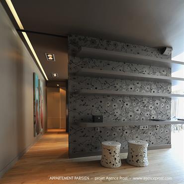 Entr es et couloirs id e d coration entr es et couloirs et - Quel papier peint pour une entree ...