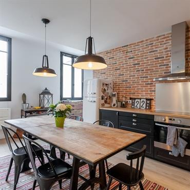 Cuisine moderne am nagement et id e d co domozoom - Cuisine style industriel ...