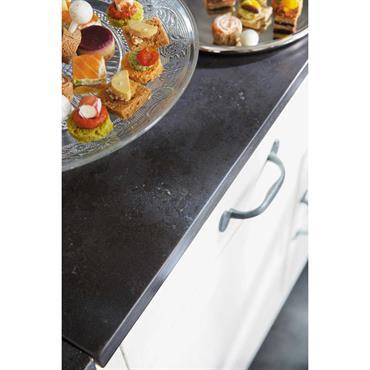 Meuble bas de cuisine en bois recyclé blanc L 50 cm Ostende