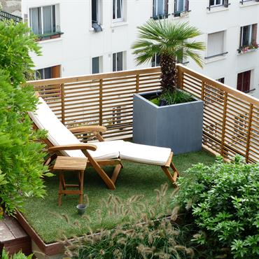 Id e am nagement jardin contemporain - Idee amenagement jardin de ville ...