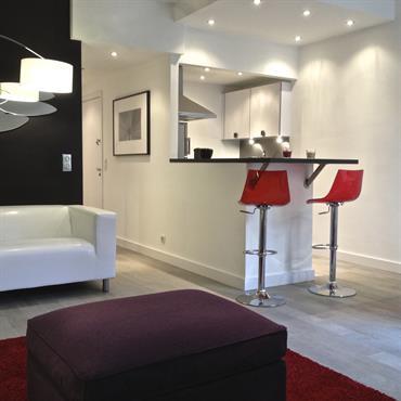 Petit studio transformé en mini loft design