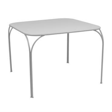 Table Kintbury / 100 x 100 cm - Fermob Gris métal en Métal