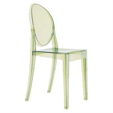Chaise empilable Victoria Ghost / Polycarbonate - Kartell Vert en Matière plastique