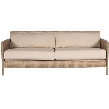 Profond et confortable, canapé en résine à fibre ronde avec ses ...