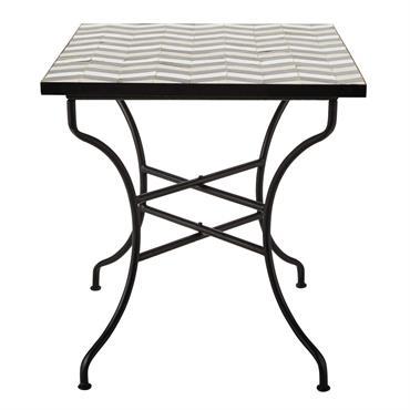 Table carrée de salle à manger en zellige L 70 cm Zelie