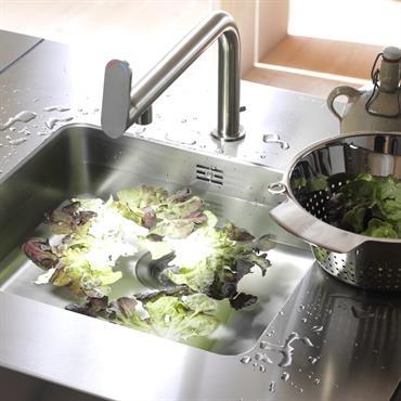 Evier inox pour table de cuisine modulable