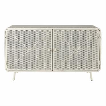Cabinet de rangement en métal blanc L 116 cm Knokke