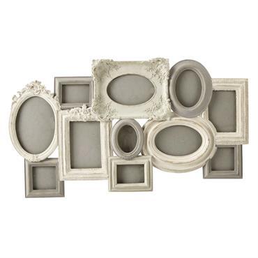 Le cadre photo SARAH en résine beige et grise patinée offrira une touche romantique à votre déco. Original et déstructuré avec ses formes et dimensions variées, ce cadre photo permettra ...