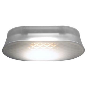 Applique Vitro LED / Plafonnier - Fontana Arte Satiné en Matière plastique