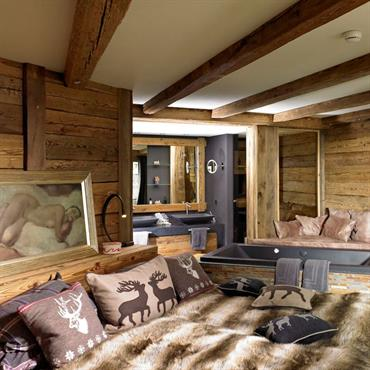 Chambre dans chalet montagne design de maison for Chambre style chalet montagne