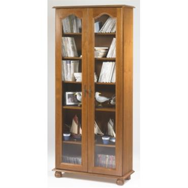 Bibliothèques Cluzel 2 portes teinté chêne