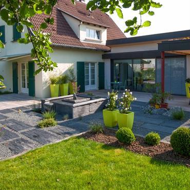 Jardins id e d coration jardins et am nagement domozoom - Photo jardin moderne ...