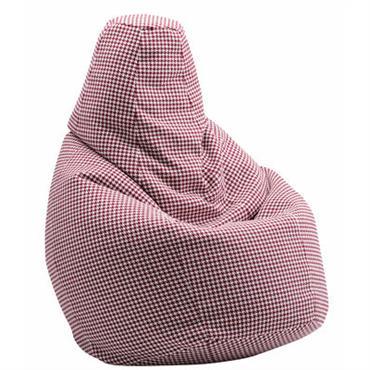 Pouf Sacco / Tissu Pied-de-poule - L 80 x H 68 cm