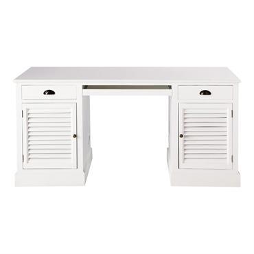 Bureau en bois blanc L 150 cm Barbade