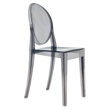 Chaise empilable Victoria Ghost / Polycarbonate - Kartell Fumé en Matière plastique