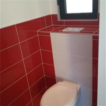 Am nagement toilettes rouge - Faience wc design ...