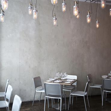 Emeco 2006 chairs and stools by Norman Foster and Hudson Barstools by Philippe Starck installed at Trattoria Il Mulino, New York. Interior designers, Lee Katzoff and Rozhia Tabnak have wonderfully ...