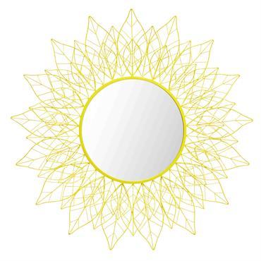 Miroir en métal jaune D 95 cm TIJUANA