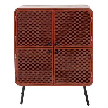 Cabinet de rangement en métal rouge L 80 cm Knokke