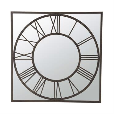 Miroir en métal noir H 119 cm AQUILAIN