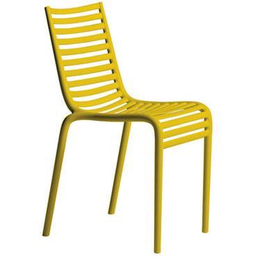 Chaise empilable PIP-e / Plastique - Driade Jaune en Matière plastique