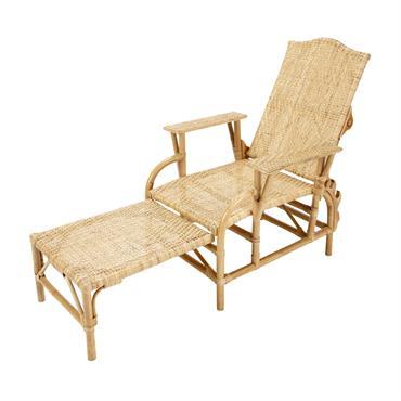 Chaise longue en rotin L 149 cm Séville