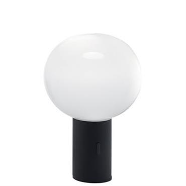 Lampe de table Laguna / LED - H 24 cm - Artemide Noir