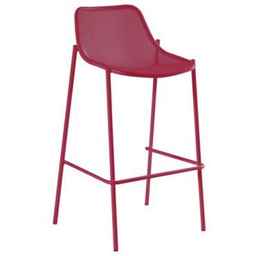 Chaise de bar Round / Métal - H 78 cm