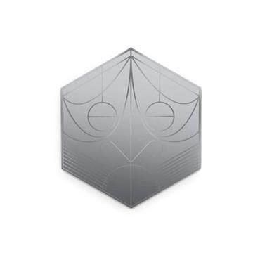 Miroir Mask / Hexagone - H 75 cm - Petite Friture Plomb