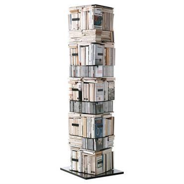 Bibliothèque rotative Ptolomeo / 4 faces - Rangement horizontal & vertical