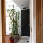 Un rideau de papyrus se place devant la paroi de douche italienne - Rideau giet douche italienne ...