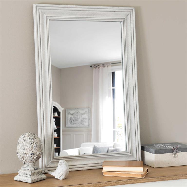 Miroir en polyrésine argenté H 121 cm RIVOLI Maisons du monde