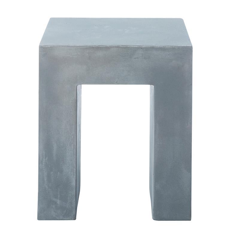 Tabouret effet béton en magnésie gris clair Mineral
