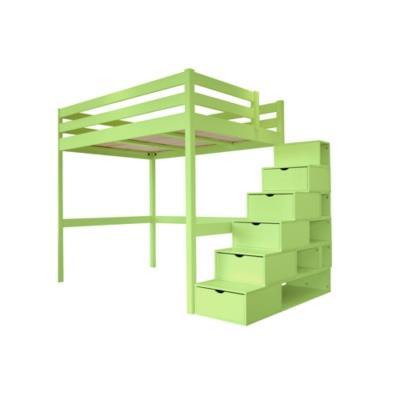 Lit mezzanine sylvia avec escalier cube bois camif - Escalier cube mezzanine ...