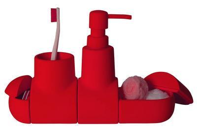 Set d´accessoires Submarine / Pour salle de bains - Seletti rouge en céramique