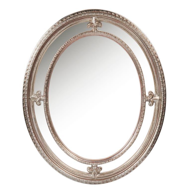 Miroir ovale en bois H 55 cm LEOPOLD